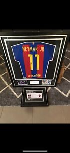 Neymar signed jersey and boot with authenticity