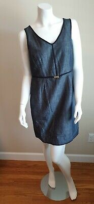 H&M Women's Casual Dress Denim Blue Color Spring & Summer Size Large