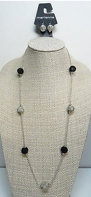 "New 32"" Long Mesh Ball Necklace & Earring Set with $24 Tags #N2253"