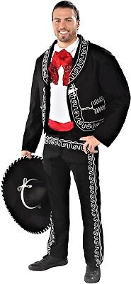 El Mariachi Spanish Mexican Fiesta Cinco de Mayo Economy Adult Costume (Mariachi Costumes)