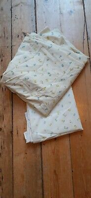 Vintage Horrockses Huge 230 cm by 250 cm Size Flower Bed Sheet and 1 Pillowcase