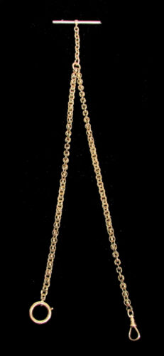 ANTIQUE 14K SOLID GOLD WATCH CHAIN