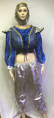 Aladdin Gypsy Belly Dancer Adult Women's Genie Costume Large 14-16 - Adult Belly Dancer Costume