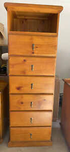 Chest of drawers suitable to hold TV and DVD player