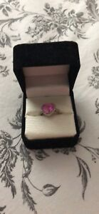 Pink Heart Ring Size 6