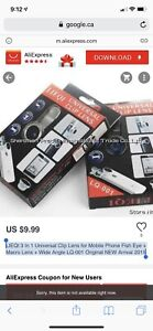 BNIB 3-IN-1 Photo Lens (Universal Clip Lens for your phone)