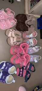 8 pair of shoes size 0-3 months