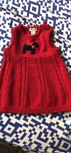 Read dress for baby girl