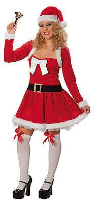 Sexy Weihnachtsmann Kostüm für Damen 34 36 Weihnachtsfrau Kleid Bolero 121350413