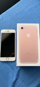 Iphone 7 128gb Rose Gold, UNLOCKED with OtterBox Case