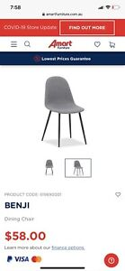 6 x Grey Dining Chairs (Brand New)