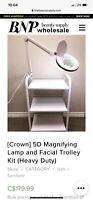 Like New Magnifying Lamp and Facial Trolley 10/10 Condition