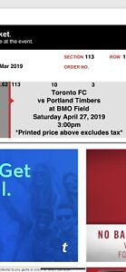 TFC GAME APRIL 27@3pm  SECTION 113