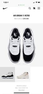 Air Jordan 11 Concord 2018 with box and receipt
