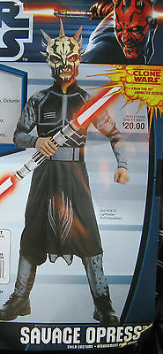 Savage Opress Halloween Costume (Star Wars SAVAGE OPRESS  Costume Halloween Child NEW Small)
