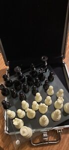 CHESS SET - in case, glass board, never used