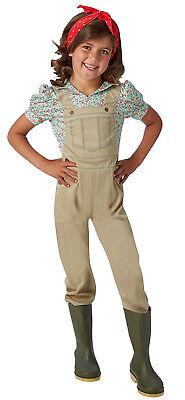 Land Girl Womans Army Kids WW2 World War 1940s 50s Fancy Dress Book Day Costume  - World War 2 Army Girl Costume