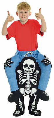 Skeleton Piggyback Kids Costume Inflatable Funny Halloween Morph Suits](Inflatable Morphsuit)