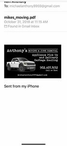 Anthony moving cheapest prices in Nova Scotia text 19024011652