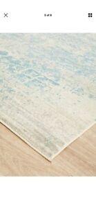 Blue grey modern rug