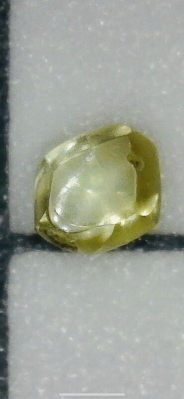 Gem Quality Uncut .5 Point Fancy Yellow Arkansas Diamond/Crater of Diamonds
