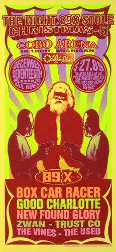 Good Charlotte HANDBILL 89X Stole Christmas The Vines Concert 2002 Mark Arminski