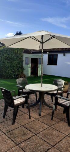 Garden Furniture - used garden patio furniture set including parasol