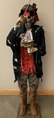 Halloween Eyes Animation (RARE-2007-6' Gemmy Pirate Dead Eye Drake Animated Ghoul Skeleton Halloween)