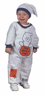 Ghost Jumpsuit Infants Costume Snap Up Legs And  Floppy Cap Funworld Ghost-jumpsuit