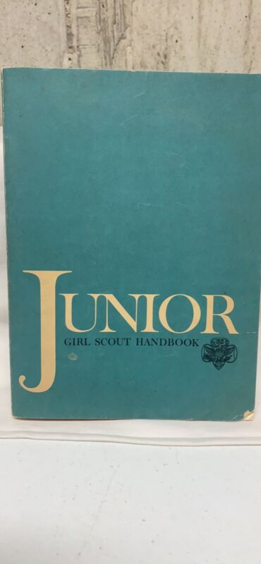 Vintage 1963 Junior Girl Scout Handbook Americana, Softcover First Printing 1963