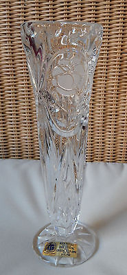 Schöne schlanke Vase, Blumenvase, Bleikristall 25cm hoch, Vintage