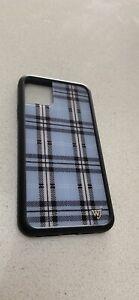 iPhone 11 Pro Max Wildflower Case (Blue Plaid)