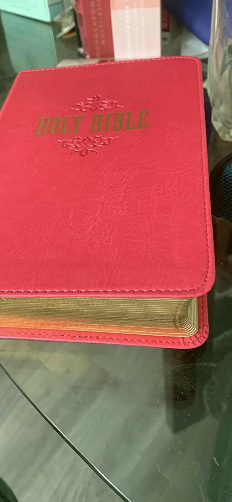 Holy Bible New King James Version NKJV 1992 Nelson Giant Print Red Letter, Good - $27.64