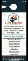 Elite Moving & Delivery WEEKEND DEALS