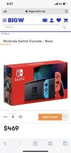 New condition Nintendo Switch console (neon) With 2 x Mario games