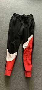 Medium Nike swoosh pants (Red, White and Black)