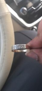 10K gold ring and diamonds
