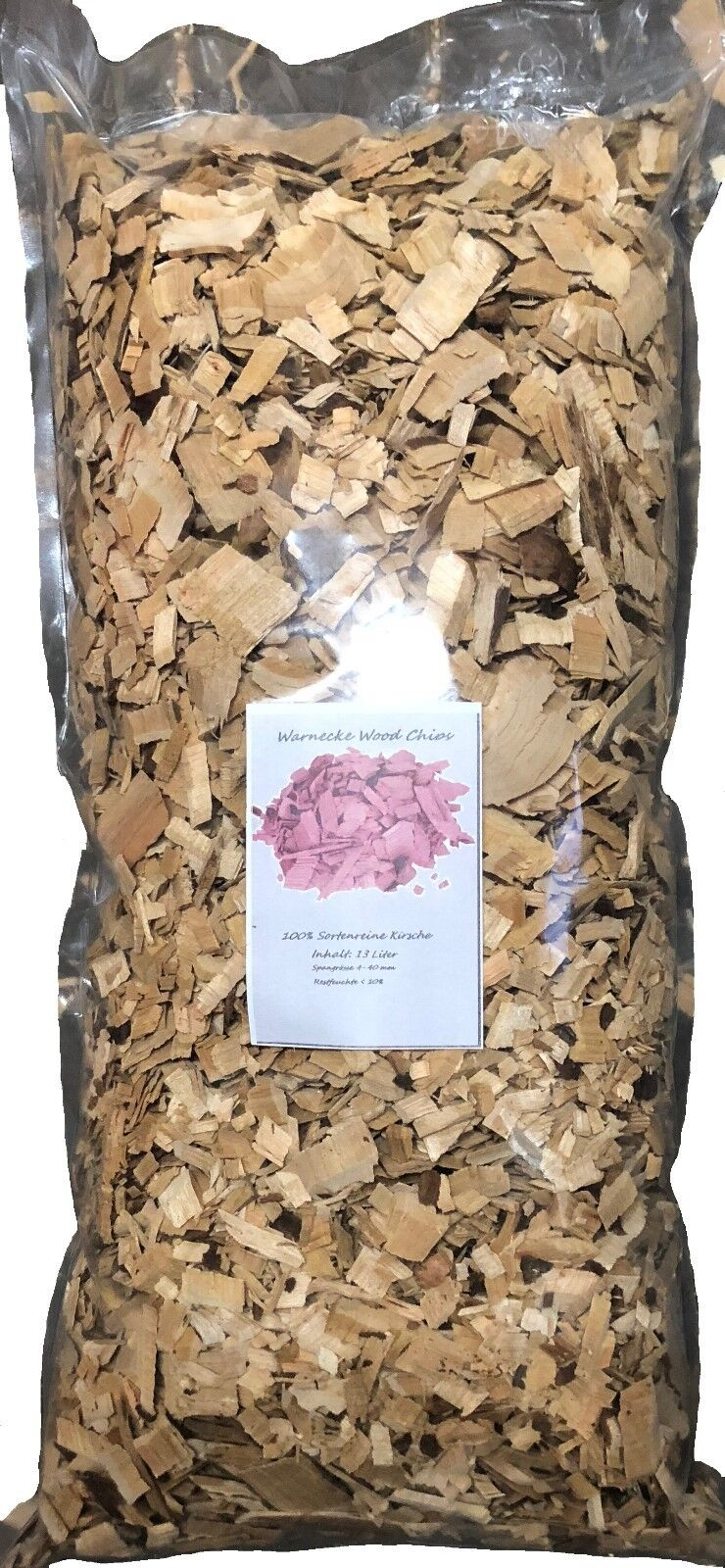 Wood Chips Kirsche Cherry Wood 13 Liter Räucherchips für Grill und Smoker BBQ