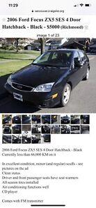 2006 Ford Focus ZX5 SES 4 Door Hatchback - Black