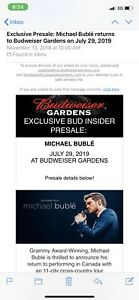 Buble 2 tickets for Monday !!