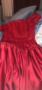 Ball gown red dress