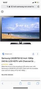 55 inch Samsung non smart tv woth wall mount