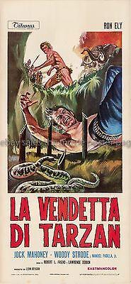 Tarzan's Deadly Silence 1970 Ron Ely Italian locandina movie poster