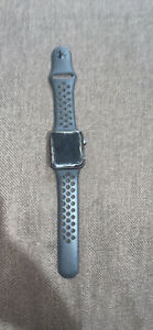 Apple Watch series 3 with cracked screen protector