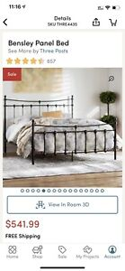Metal frame queen bed still on sale on wayfair