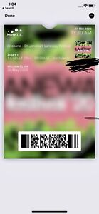 1 x laneway 18 Brisbane ticket