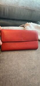 Authentic Louis Vuitton zippy epi red wallet only 200!