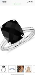 14k White Gold Onyx Ring From Blue Nile - New