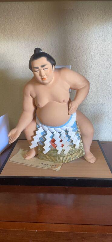 Japan Hakata Sumo Wrestler Figure Statue Wakanohana Kanji