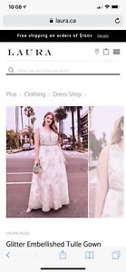 Gorgeous Glitter Tulle Gown *brand new with tags*. Size 18